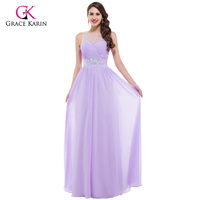 High Quality Grace Karin Pink Bridesmaid Dress Long Backless Designer CL6112