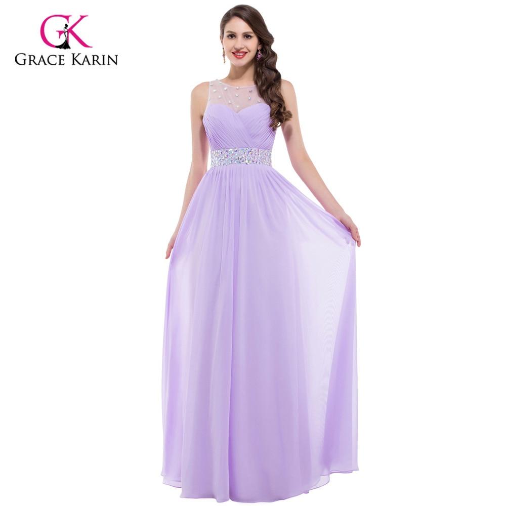Grace karin günstige rosa lila brautjungfer kleider unter $50, lange ...