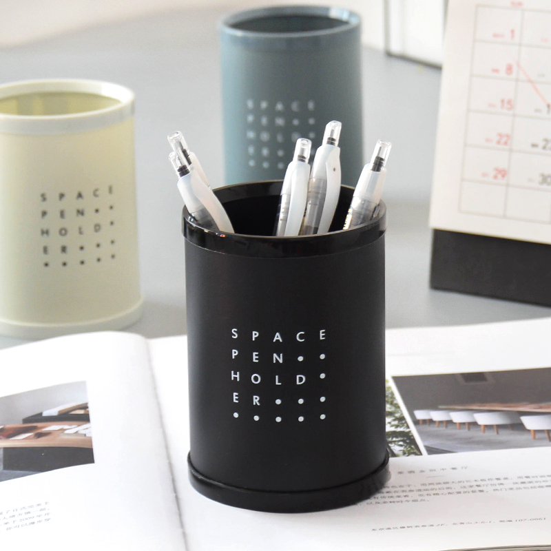 High Quality DIY  Round PP Pen Holders Stationery Storage Box School Office Supplies