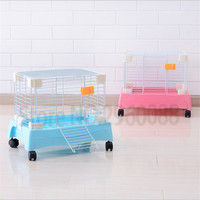 HotSales that Free shipping Painting can move Rabbit cage space Comfortable Easy to clean Guinea Pig Oversized Travel carry cage