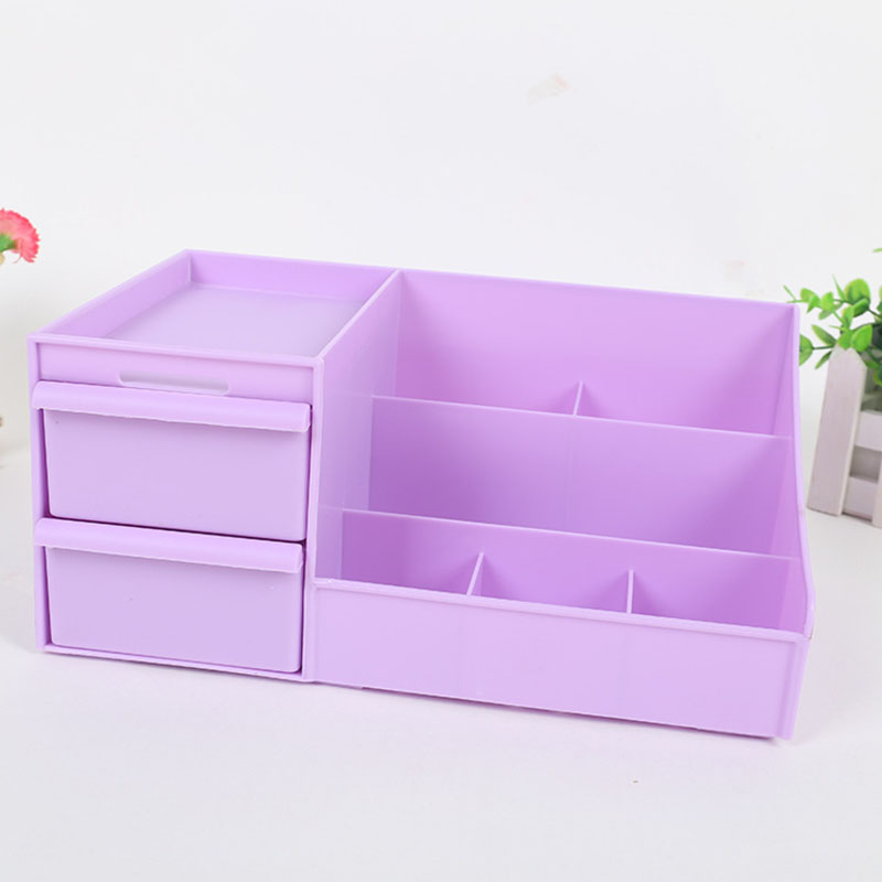 Image 5 - 2019 New Plastic Makeup Organizer Make Up Brush Storage Box with Drawer Cotton Swabs Stick Maker Storage Case Hot Sale-in Makeup Organizers from Home & Garden