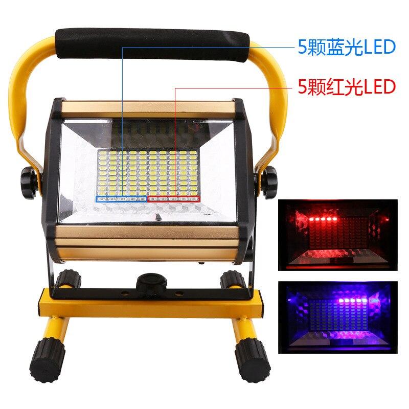 4 Uds. Reflector LED impermeable IP65 100W, recargable, 100LED, reflector LED portátil, trabajo, luz de inundación, lámpara de trabajo o acampada|Reflectores|   -