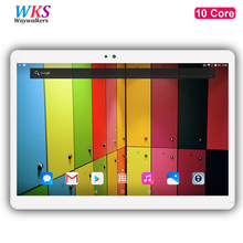Free shipping 10 inch 4G LTE tablet pc 10 core Android 7.0  RAM 4GB ROM 64GB 1920×1200 IPS GPS tablets Dual SIM card smartphone