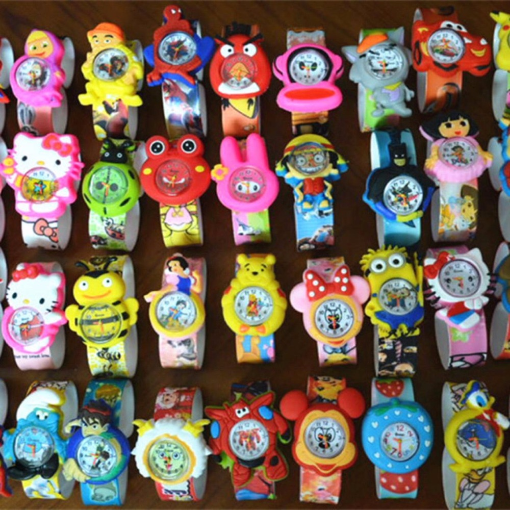 Cartoon Watch Sports Slap Brand Fashion Baby Gift Kids Quartz Watches Cartoon Slap Wristwatch For Boy Girl Children Watch
