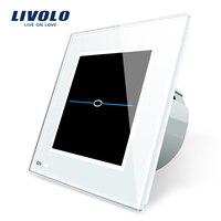 Free Shipping Livolo EU Standard Touch Switch VL C701 SR1 White Crystal Glass Panel Wall Light