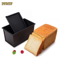 Non Stick Pan Black Carbon Steel Toast Box Kitchen Bread Bakeware Tool Cake Baking Mold