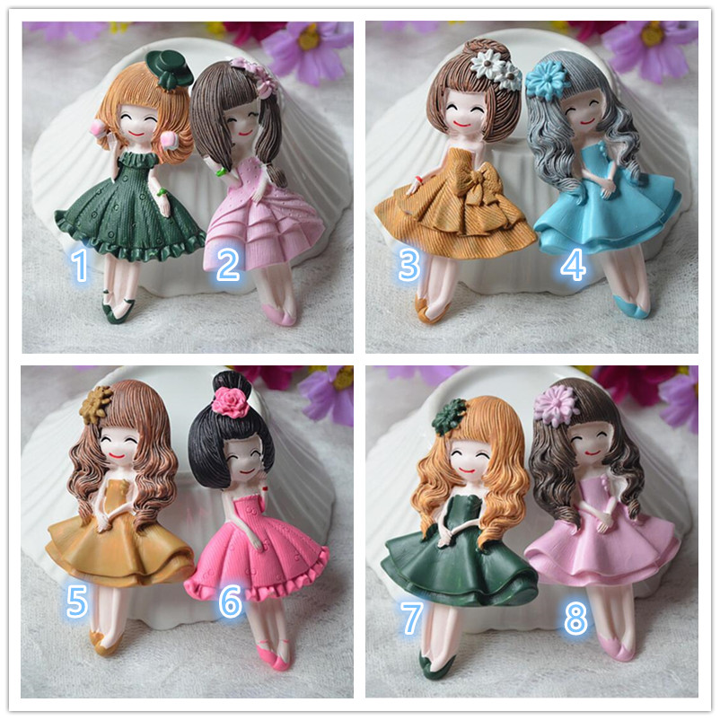 1PCS Cartoon Kawaii Girl Resin Flat Back Cabochon Miniature Food Art Supply Decoration Charm Craft DIY 85x50mm