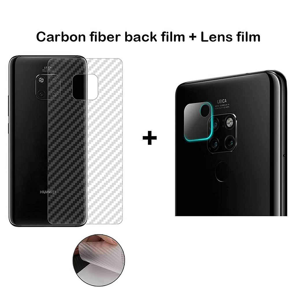 NYFundas 3D Back Camera Lens Protector Tempered Glass Film Carbon Fiber Rear For Huawei Mate 20 X P30 P20 Pro Lite Protection