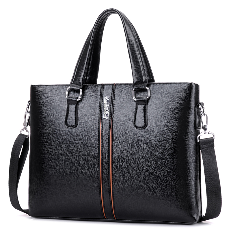 14 Inches Men's Briefcase Black Man Bags Laptop Men Shoulder Handbags Waterproof Briefcase For Man Travel Handbag Zipper Bag