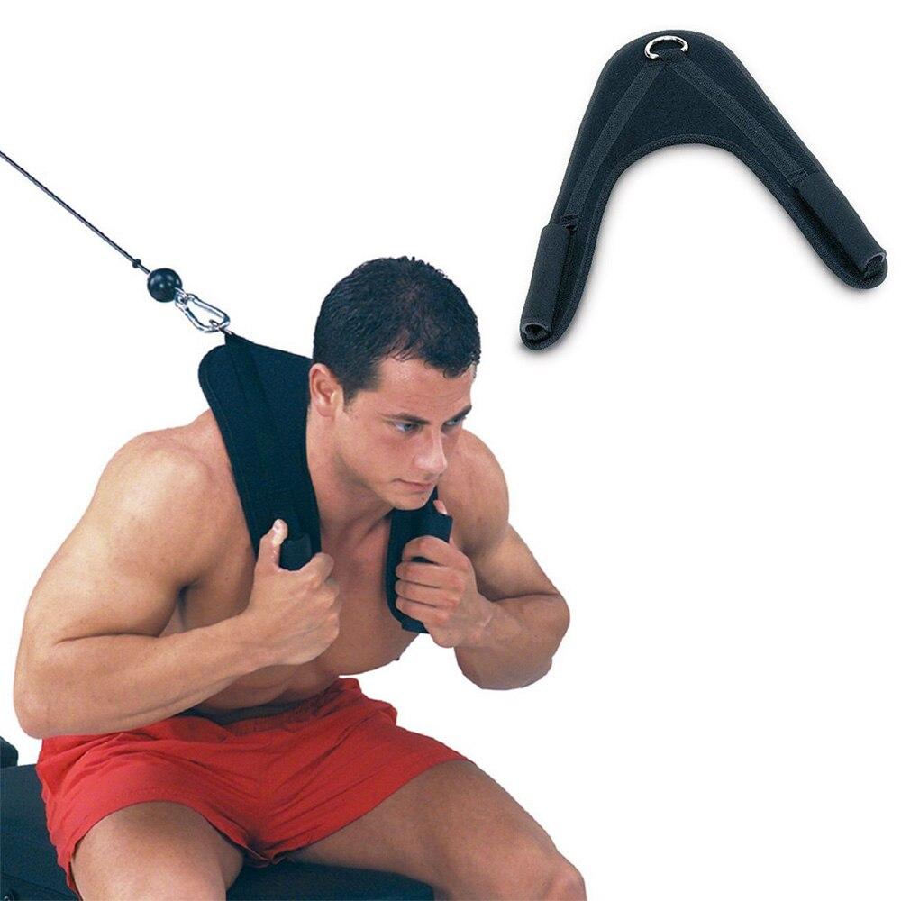 1 stücke Fitness Abdominal Crunch Straps Übung Ziehen Harness Schulter Gurt Gürtel Nylon Home Barbell Gym Ausrüstung Zubehör