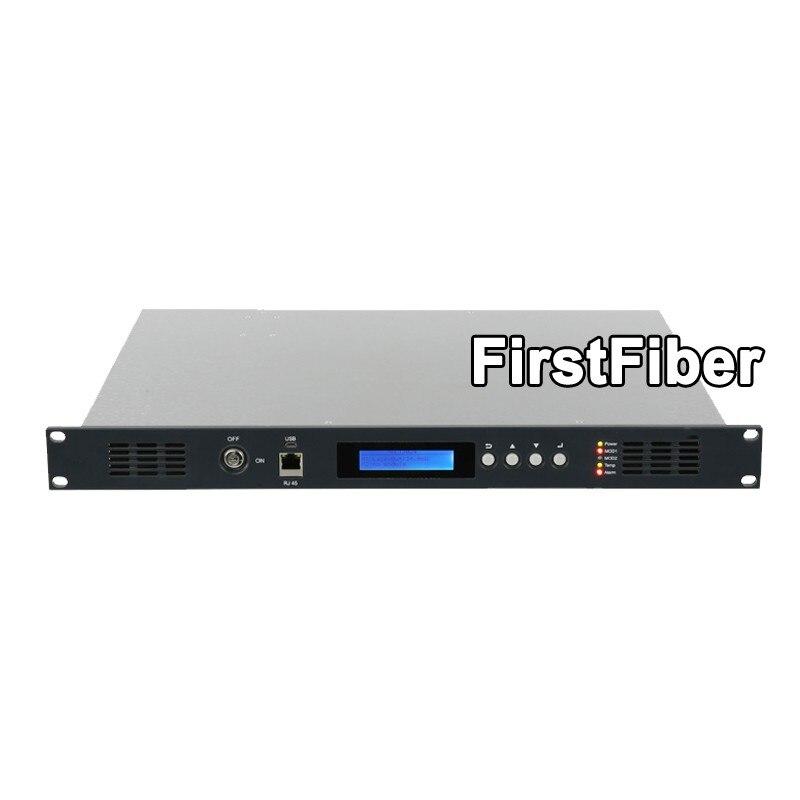 CATV 1550nm Trasmettitore Ottico, 2mW di trasporto per 10mW per opzione, modulazione di intensità di luce Diretta, doppia alimentazione