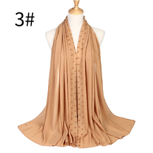 beads Patchwork pleat bubble chiffon pearl Pleated shawls hijab drape stitching  crumplemuslim scarves/scarf 22 color stylish patchwork pattern pleated scarf for women