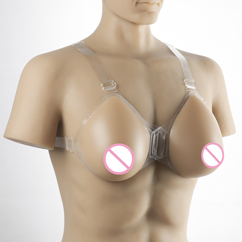 Crossdresser Breast Form 1000g/pair Strap-On Silicone Breast Drag Queen Shemale Transgender Artificial Fake BoobsCrossdresser Breast Form 1000g/pair Strap-On Silicone Breast Drag Queen Shemale Transgender Artificial Fake Boobs