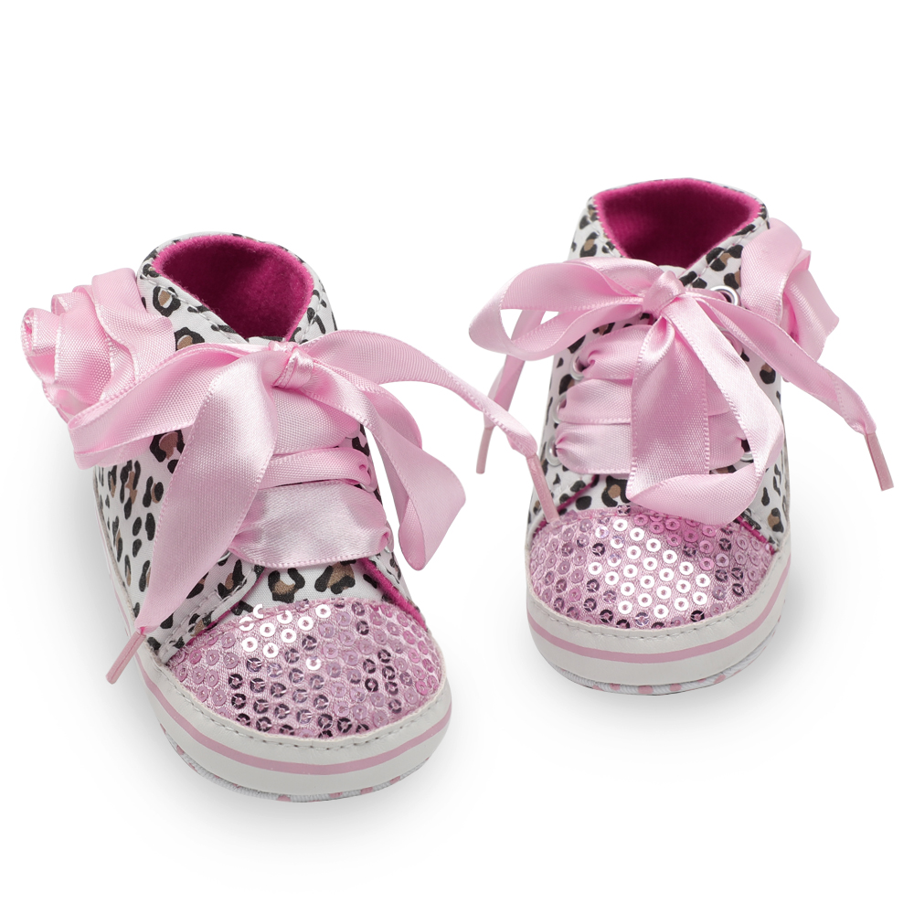 First Walkers Cute Baby Girls Love Heart Print Shoes Infant Toddler Anti-slip Sneakers Mother & Kids