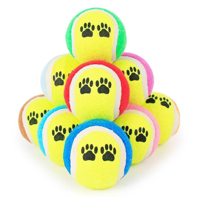 2 шт. домашнее животное Теннисные Мячи Игрушки для собак для маленьких Игрушки для собак Run Fetch Пледы играют игры смешные открытый Товары для ...