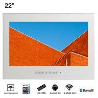 Souria 22 Умный Android Водонепроницаемый Ванная комната магическое светодиодное зеркало ТВ Сауна для домашнего использования светодиодный теле