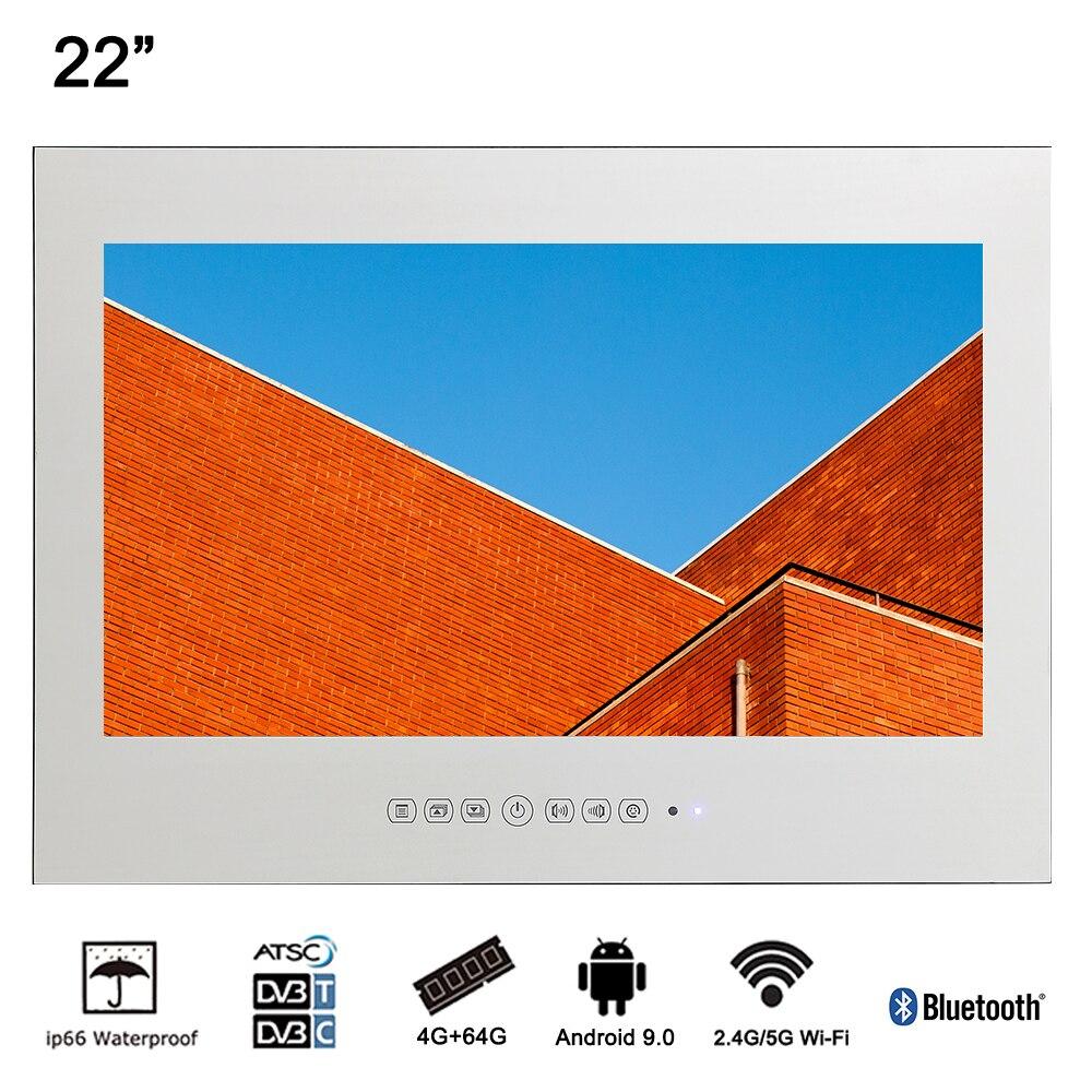 Souria 22 intelligent Android étanche salle de bains miroir magique LED TV Sauna intérieur usage domestique LED TV