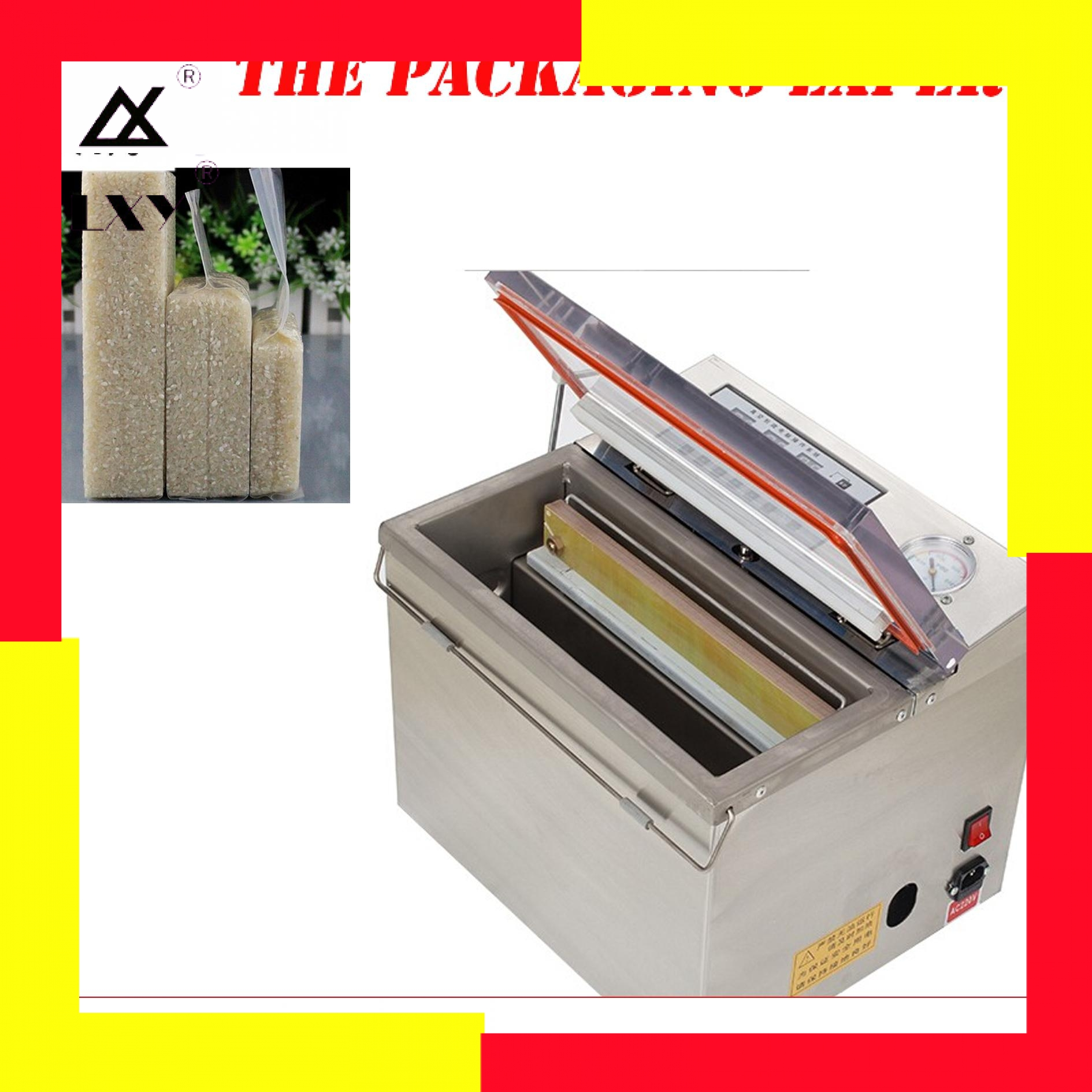 Special For Bag Rice Tea Vacuum Sealer Vaccum Packing Machine Sealing Packaging With Quadrate Area Sucking Air Pack Seal Device