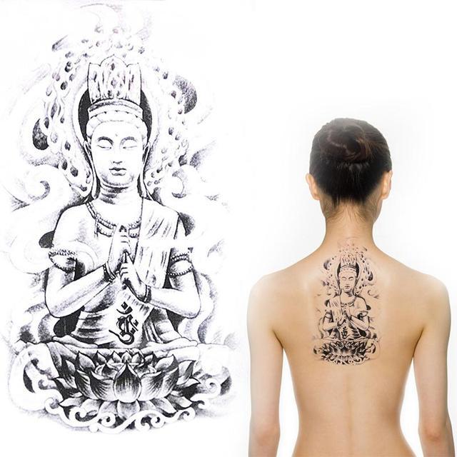 Temporary Tattooed Arm Sleeves Leg Tattoos Men Waterproof Buddhist