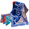 Fashion Real Silk Scarf Woman Bandana Ladies Big Shawls Scarves Square Sun Protection Elegant Summer Style