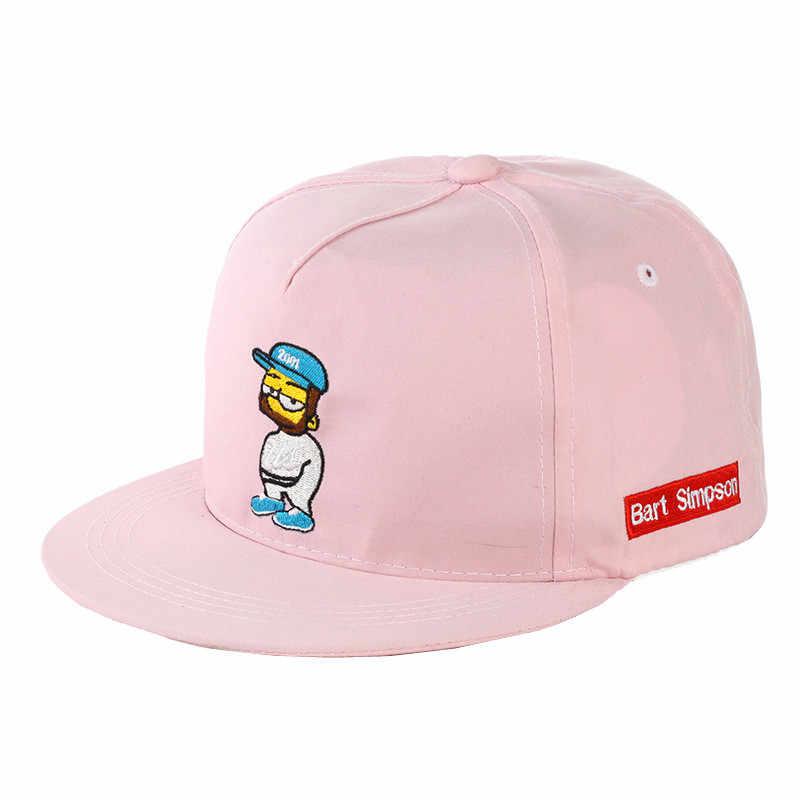 433906db8c5 ... Cartoon Baseball Cap Summer Snapback Flat Bill Caps Street Hip Hop Hats  For Men Women Adjustable ...