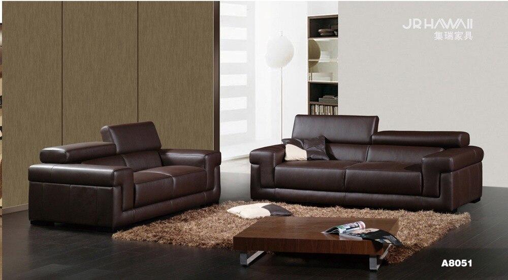 ᐊVaca genuino/cuero real del sofá salón sofá seccional/esquina sofá ...