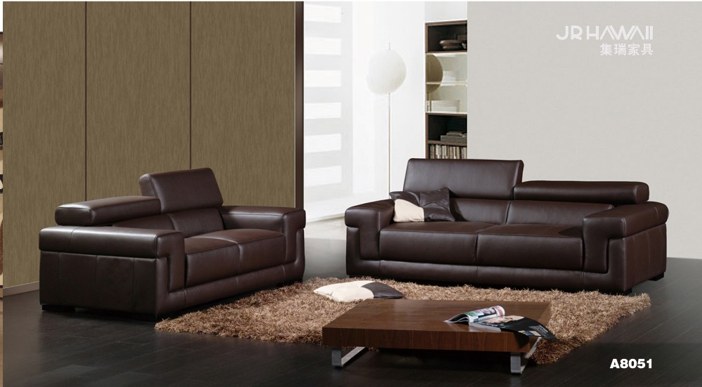 Cow genuine real leather sofa set living room sofa for Affordable furniture malaysia