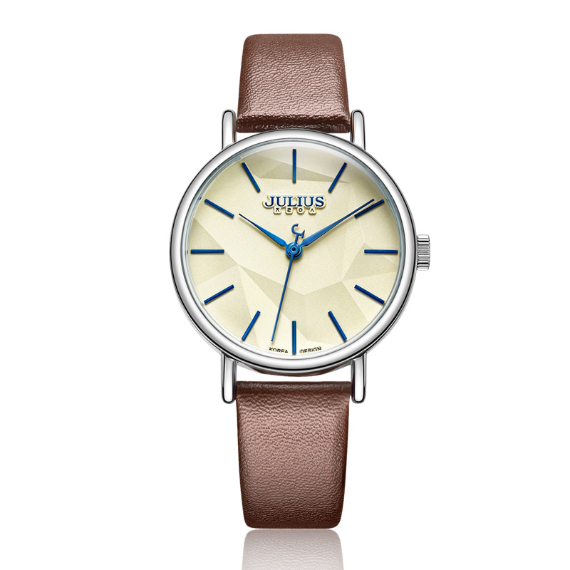 Top Simple Lady Women's Watch Japan Quartz Fine Fashion Hours Clock Bracelet Leather School Girl Birthday Gift Julius Box 985 julius lady women s watch japan quartz couple hours fine fashion clock stainless steel band girl birthday lovers gift box