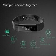 Bluetooth inteligentne opaski na rękę sport Tracker fitness opaska na ramię dla krokomierz rejestrator snu rejestrator aktywności fizycznej przypomnienie o połączeniu pilot zdalnego sterowania w mediach społecznościowych