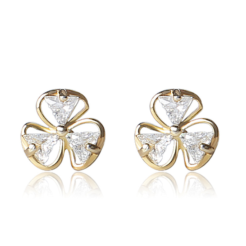 Close To Me Real S925 Sterling Silver Creative Handmade Fine Jewelry Temperament Flower Simple Stud Earrings for Women in Earrings from Jewelry Accessories