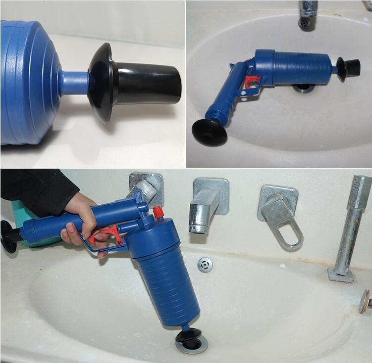 Air Power Drain Blaster Gun And High Pressure Sink Plunger And Cleaner Pump For Bathroom 9