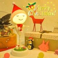 Ricaricabile Spaventapasseri HA CONDOTTO LA Luce di Notte per I Bambini Animale ABS Fumetto Bambino Lampada Di Natale Decorazioni Per La Casa Festa
