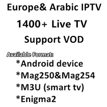 Abbiamo 6/12 Months 1600+ Live TV IPTV M3U ENIGAM2 Androd IPTV ITALY German French Spain TR UK IT MEDIASET PREMIUM For TV BOX(China)