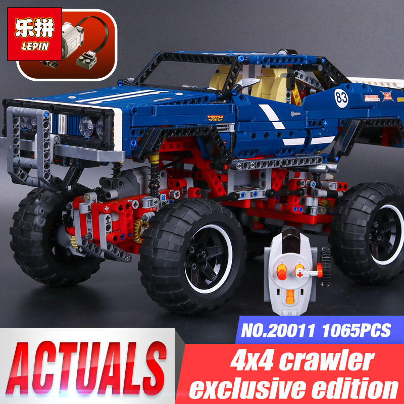 LEPIN 20011 Technic Motors Legoing 41999 4x4 Crawler Exclusive Edition of off-road vehicles Set Building blocks Bricks Boy Gifts конструктор lepin technic монстр трак 4x4 crawler 1605 дет 20011