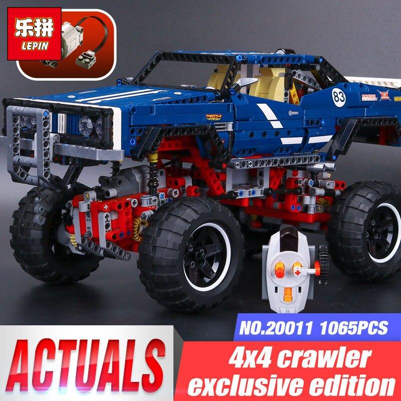 LEPIN 20011 Technique Moteurs Legoing 41999 4x4 Sur Chenilles Édition Exclusive de véhicules hors route Ensemble blocs de construction Briques garçon Cadeaux