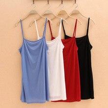 Summer Cotton slim spaghetti strap basice shirt 6 color for choose women's vest /cotton top tank camis under dresses
