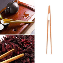 Bacon Tea Utensil Sugar Bamboo Salad Tongs Kongfu Tea Wooden Tea Clip Food Toast Tea Tweezer(China)