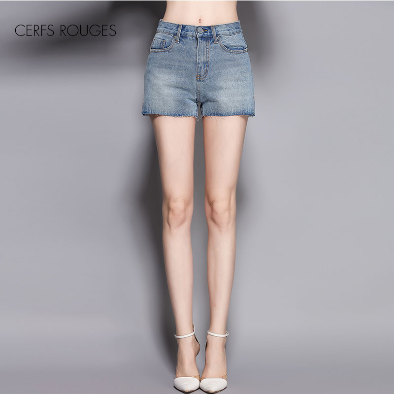 2017 Summer Women Cotton Mini Short Jeans Ladies Girls -3618