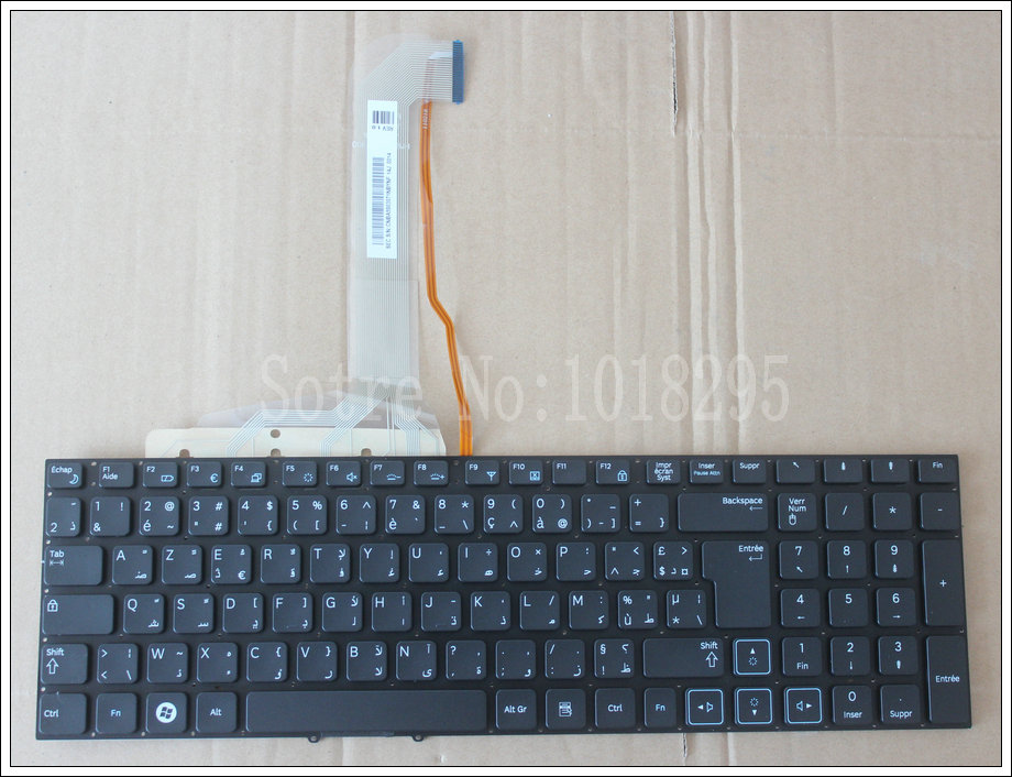 NEW Arabic Laptop Keyboard For Samsung RF712 RF710 RF711 RF730 Black AR with backlight no frame