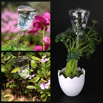 Skull Shape Durable Garden Glass Watering Sprinkler Garden Transparent Glass Self Watering Automatic Watering Device pochette étanche pour téléphone