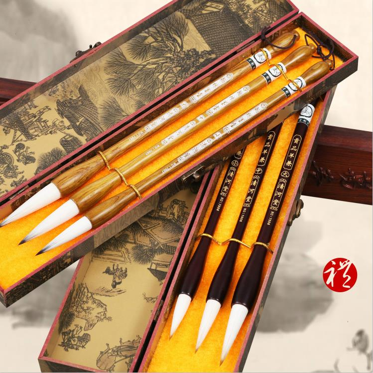 Chinese Traditional multiple hairs writing brush regular script calligraphy  painting calligraphy writing brush suit