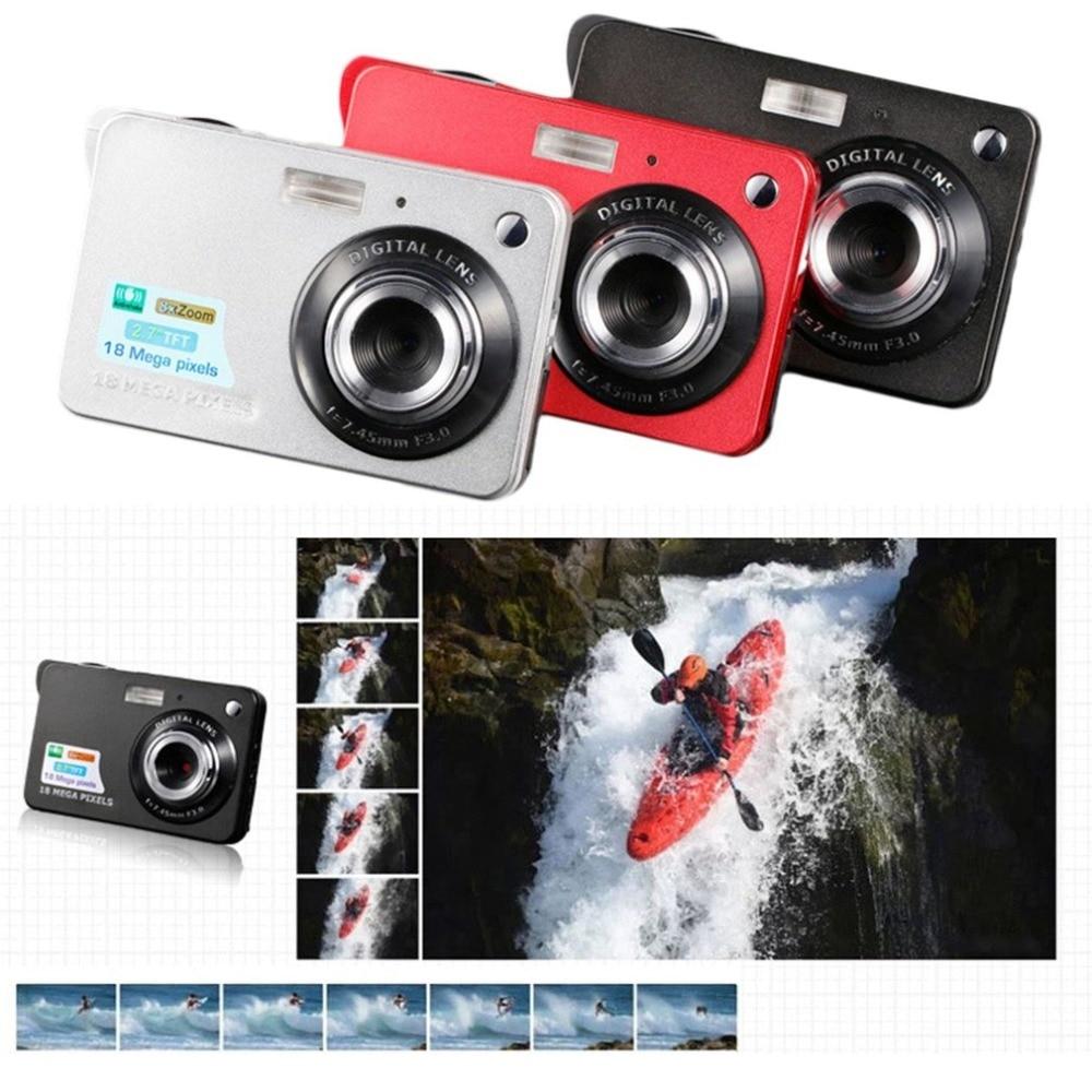 2,7 дюймов TFT HD Цифровая камера ЖК-дисплей 18MP 720P 8x Zoom Anti-Shake видеокамера CMOS микро камера детский подарок