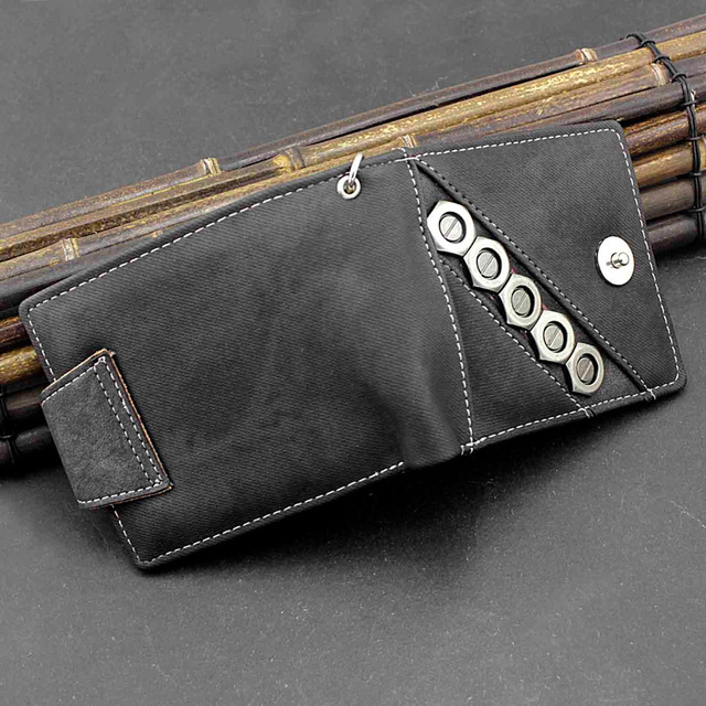 Biker Snap Wallet w/ Chain 6