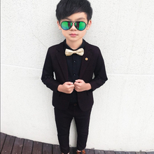 Flower Boys Suit for Weddings School Kids Piano Party Formal Blazer