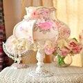 Ткань настольная лампа настольная лампа спальня ночники принцесса шнурок идиллический оформлены подарок