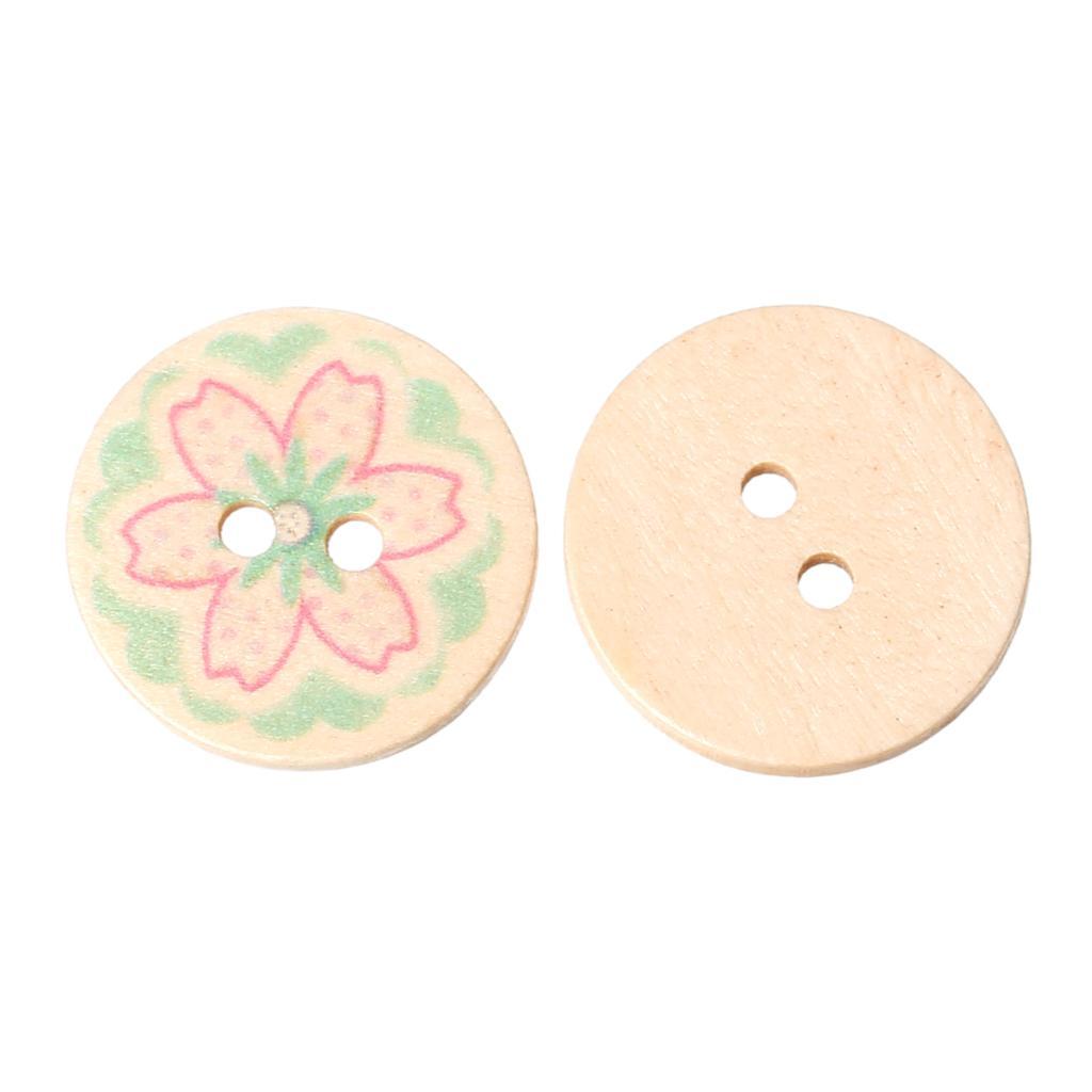 ≧Doreenbeads madera Costura scrapbooking botón redondo rosa verde ...