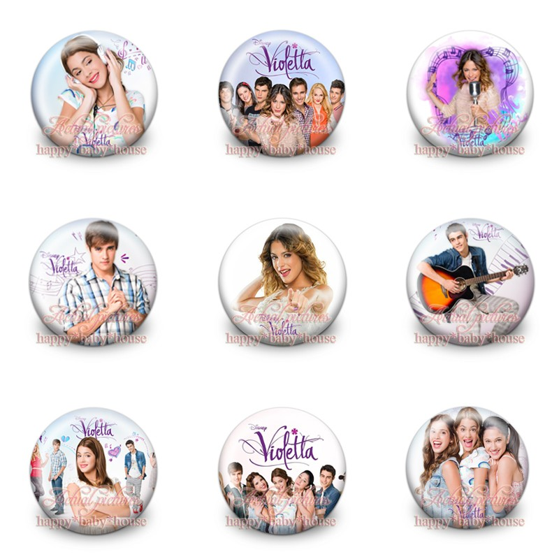 Bag Parts & Accessories Ambitious Mixed 9styles 18pcs Violetta 30mm Diameter,cartoon Novelty Buttons Pins Badges Round Brooch Badges Kids Gifts Bags Accessories Modern And Elegant In Fashion