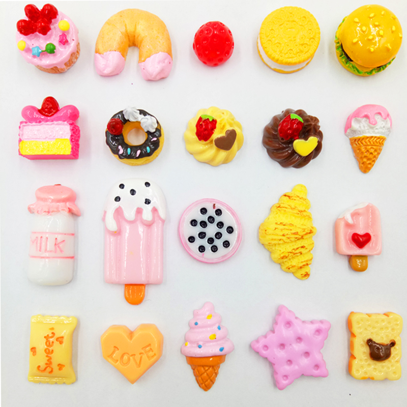 10 Pcs/ Lot Random Accessories For Pet Shop Lps Toys Food Cake Burger Milk Ice Cream Lovely Baby Gifts