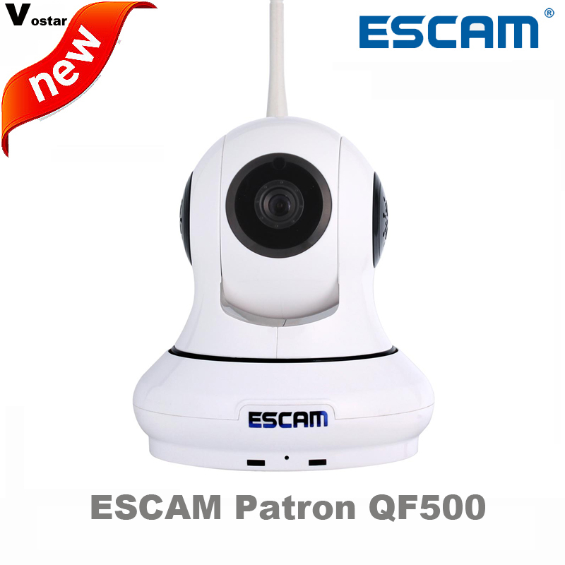 ESCAM QF500 Wireless indoor HD IP Camera P2P Support 32GB TF Card with Door Sensor Night Vision Pan/Tilt WIFI Alarm System escam patron qf500 hd 720p mini ip camera onvif p2p wirless wifi home security cctv camera with door sensor support 64gb tf card