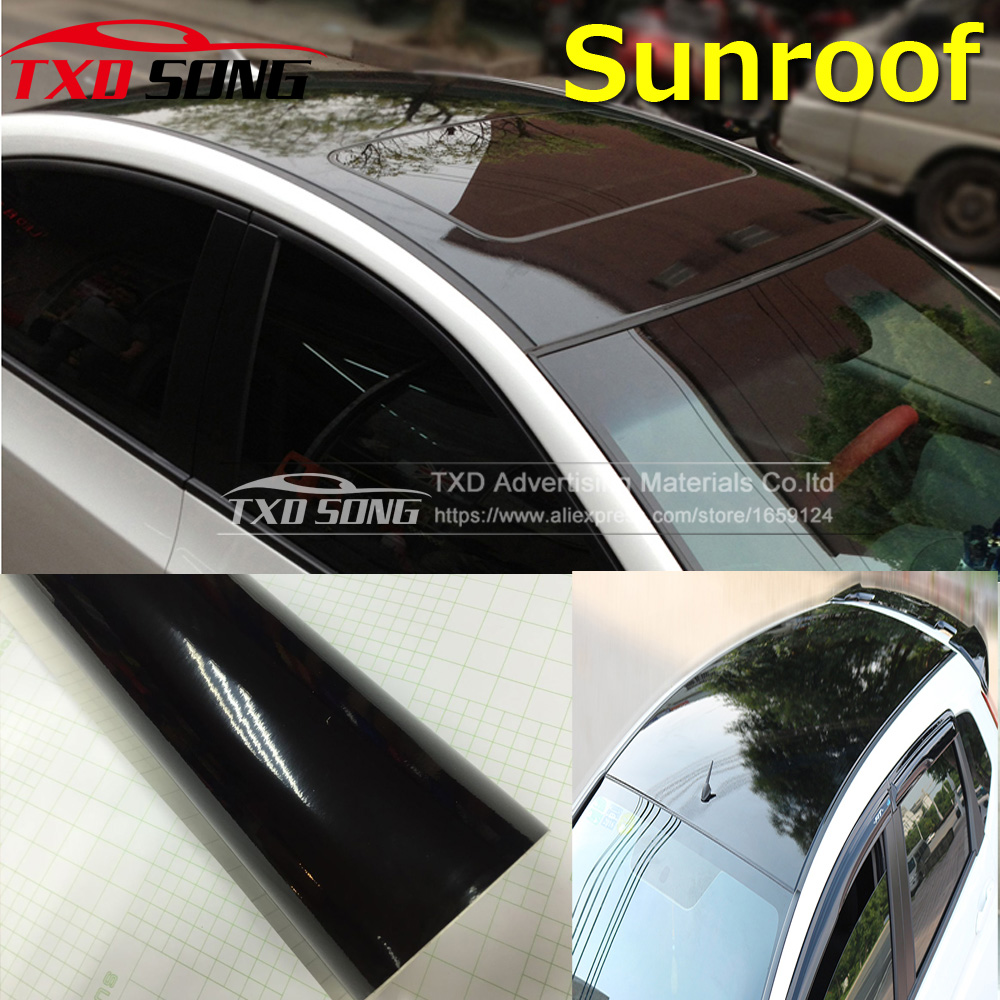 free shipping car sunroof film high glossy car sunroof car sticker with air free bubbles. Black Bedroom Furniture Sets. Home Design Ideas
